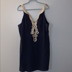 Lilly Pulitzer Navy/Gold Dress